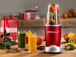 Červený super mixér Nutribullet, 600 W (sada 3 ks)